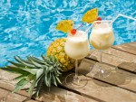 Pina Colada juice in Glasses