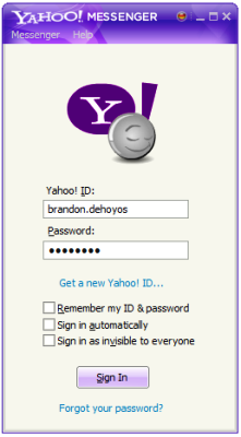 how to go to chat room in yahoo messenger