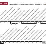 time Table of Chesham tube Station