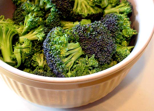 Steaming Broccoli in the Microwave