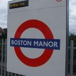 Boston Manor Tube Station