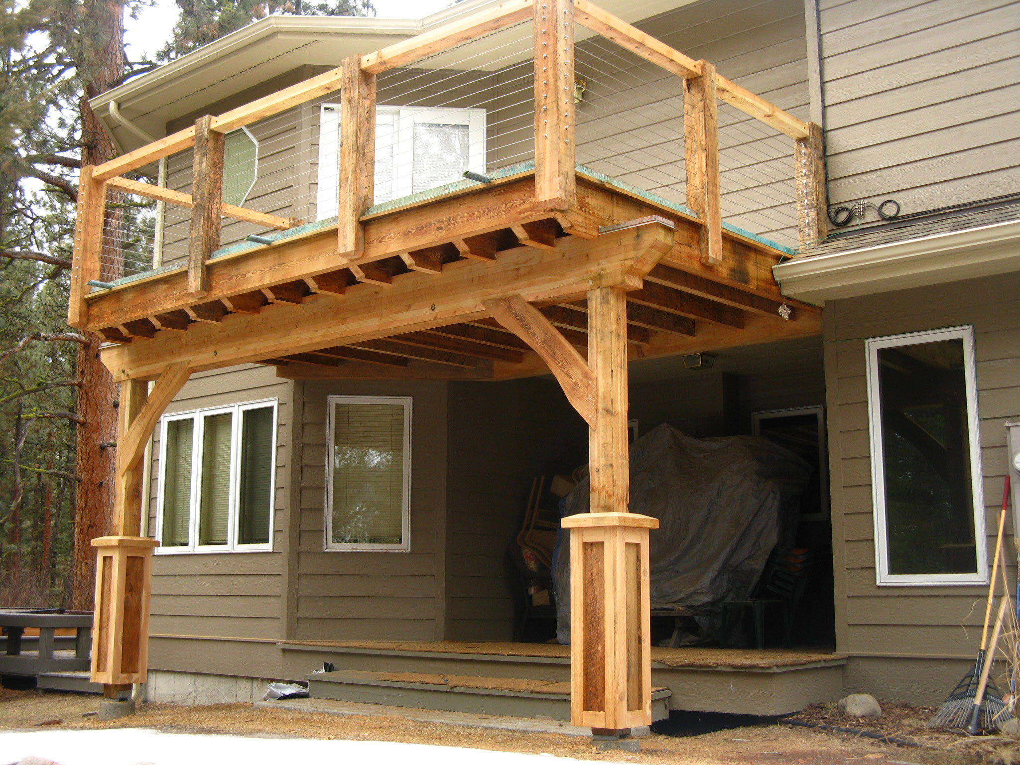 How to build a porch with roof for Roof deck design