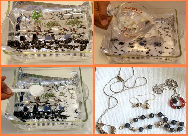 How to clean silver jewelry for Baking soda silver polish jewelry