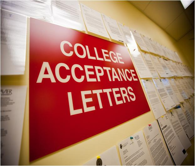 Samples of College Acceptance Letters