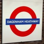 Dagenham Heathway Tube Station London