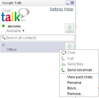 Block Someone on Google Talk