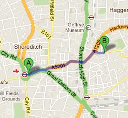 Directions to Columbia Market Nursery School from Old Street Tube Station