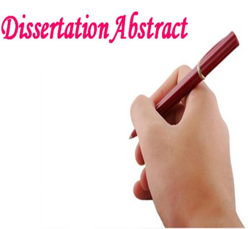 Abstract For Dissertation Proposal