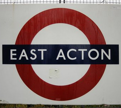 East Acton Tube Station London