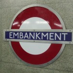 Embankment Tube Station London