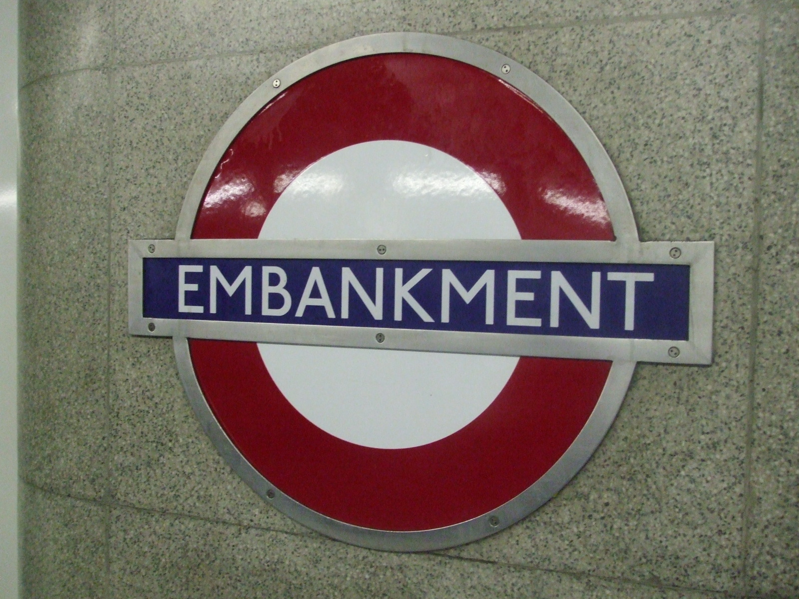 Embankment Tube Station London