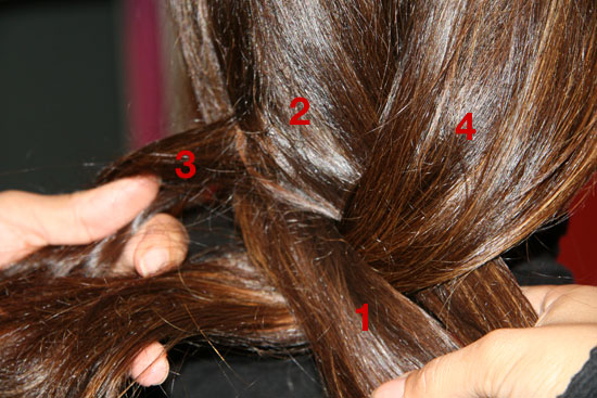 Four-Strand Braid Hairstyle