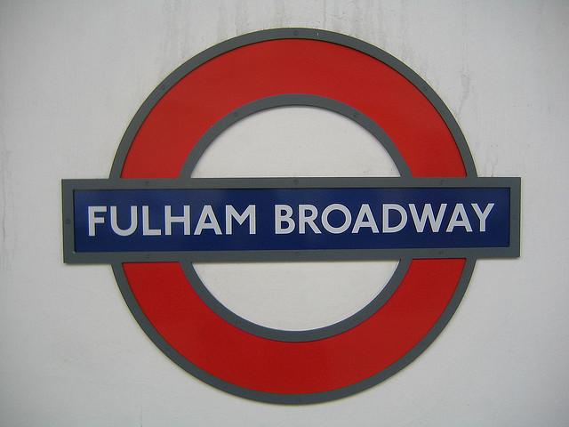 Fulham Broadway Tube Station London