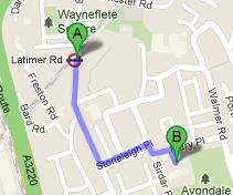How to get to Avondale Park Primary School