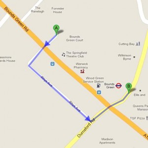 How to get to Guide to Bounds Green Children's Center in London