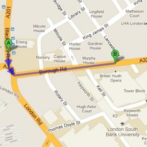 How to get to Guide to London South Bank University in London