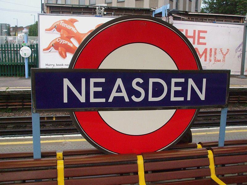 Neasden tube station in London