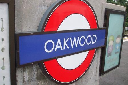 Oakwood Tube Station London