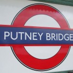 Putney Bridge tube station in London