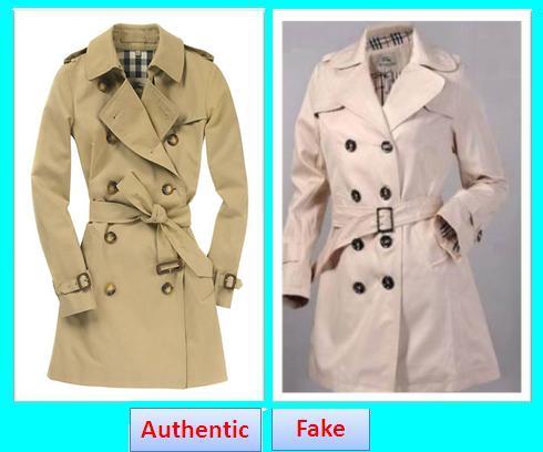 Fake Vs. Original Burberry Coat