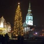 Traflgar square on Christmas