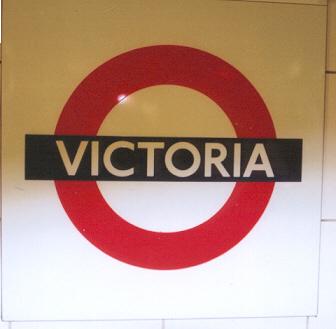 Victoria Tube Station London