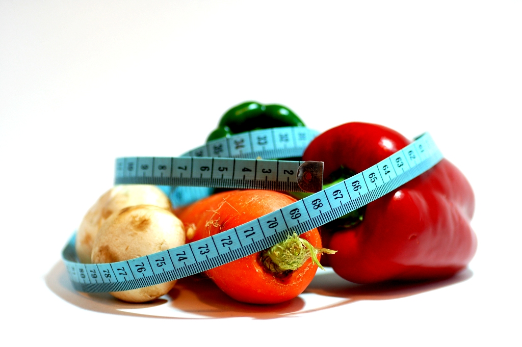 vegetables with measure