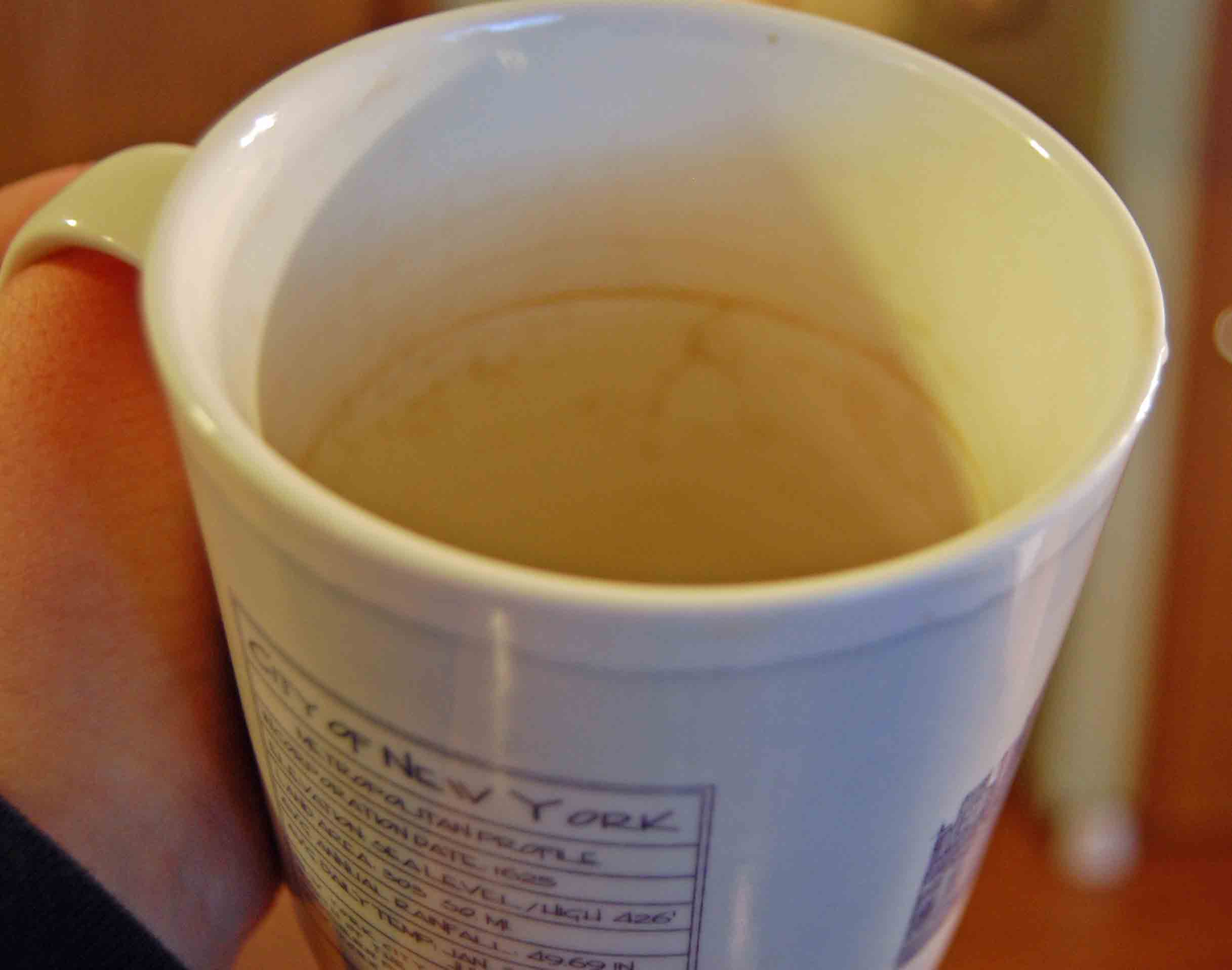 Removing Coffee Stains from Cups and Pots