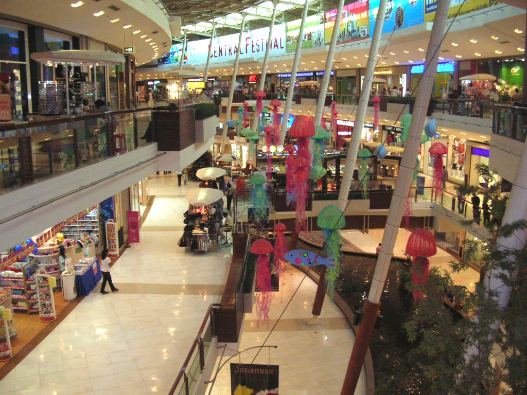 inside of shopping mall