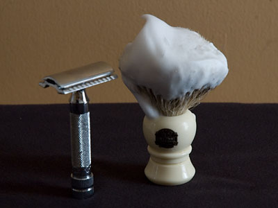 Using a Shaving Brush