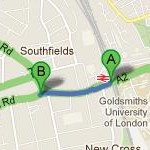 Directions to Ankay Restaurant from New Cross Gate Rail Station