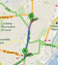Directions to Assunnah Primary School from Seven Sisters Tube Station