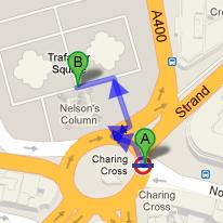 Directions to Trafalgar Square from Charing Cross Tube Station
