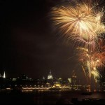 Fireworks at lord mayor show
