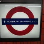 Heathrow Terminals 1, 2, 3 Tube Station London