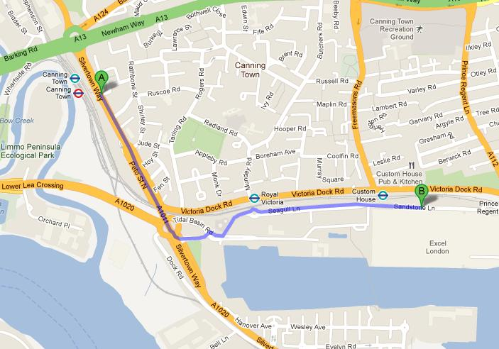 how to get to the excel centre by tube