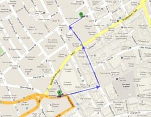 How to get to Balans Restaurant, London