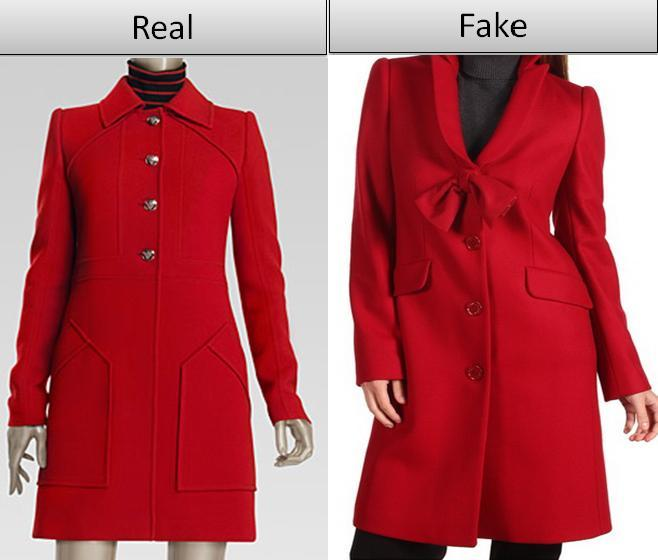Fake vs. Real Gucci Coat