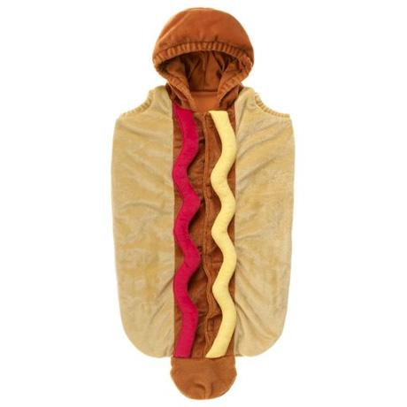 how to make hot dog baby costume