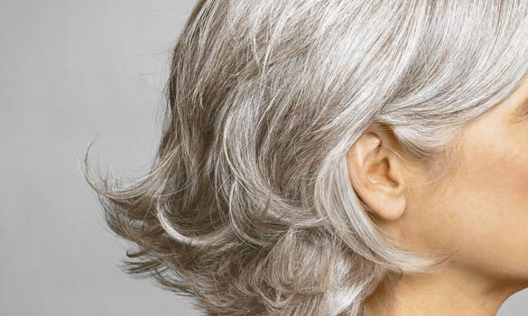lady with gray hair