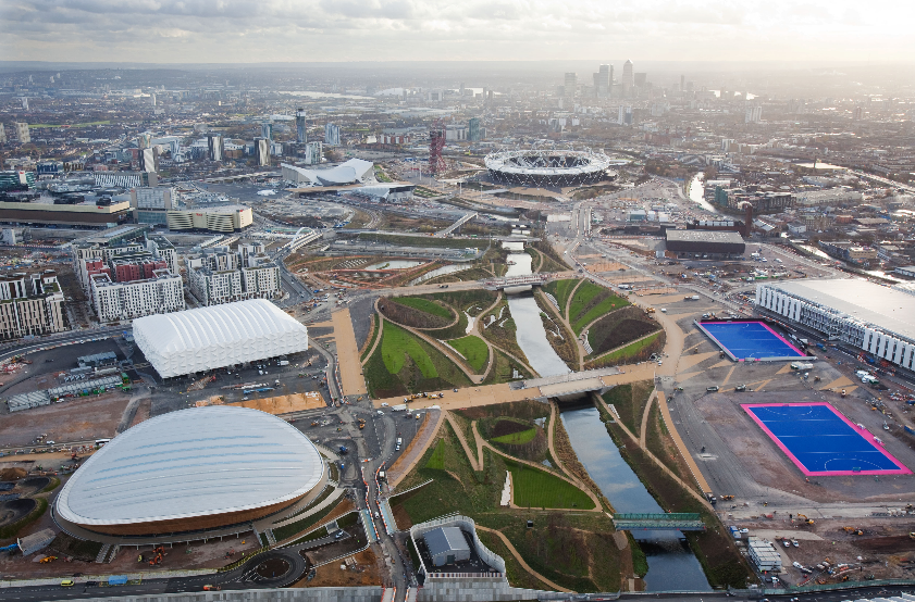 london olympics park ariel view