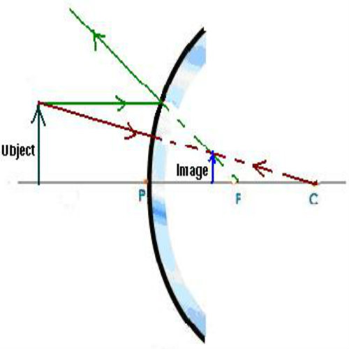 How To Draw A Ray Diagrams For Convex Mirrors