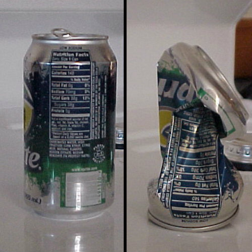 Crush the Can experiment