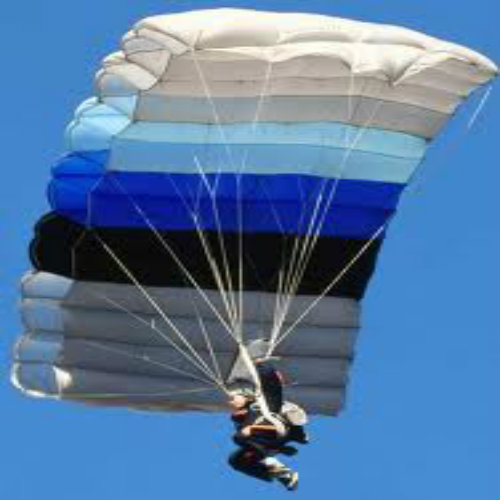 Parachute and falling object