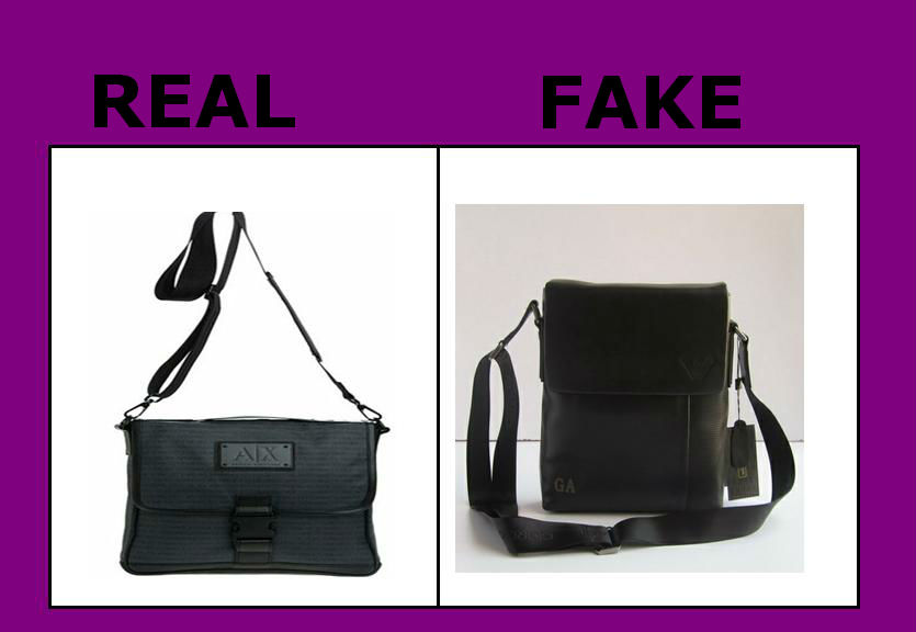 Real verses Fake Armani Bag