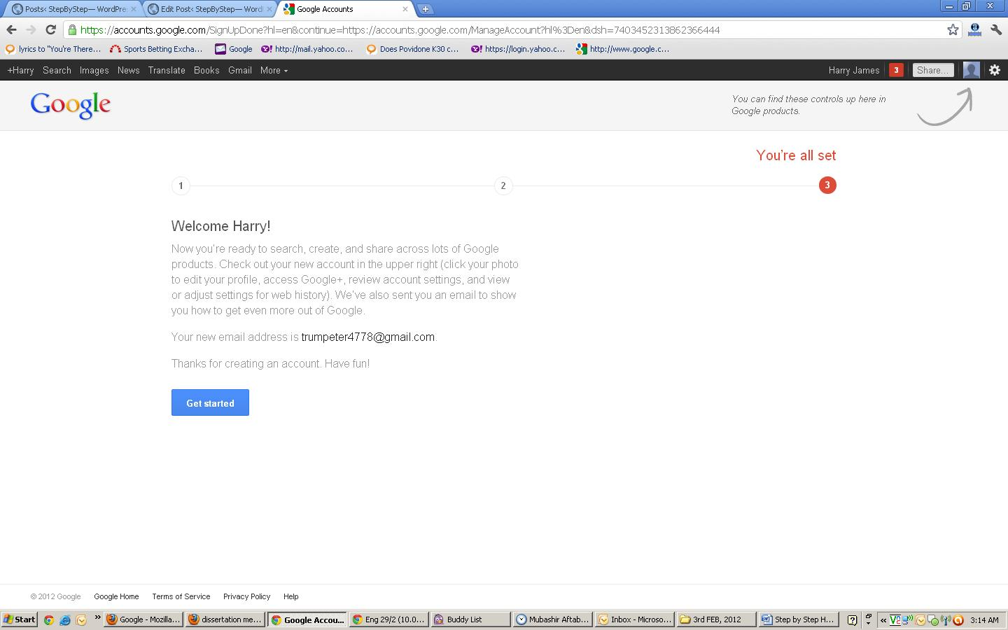 Create Email Address on Gmail