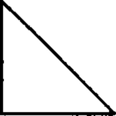 how to draw a right angled triangle with a compass