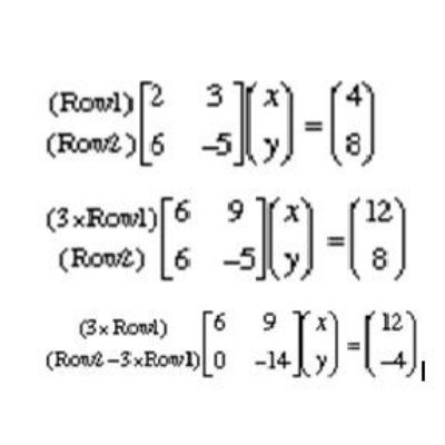 how to solve three simultaneous equations