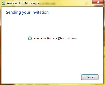 how to send a invitation to messenger on pc