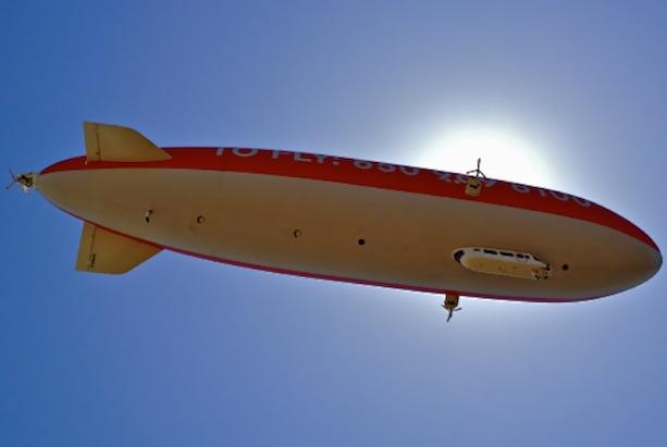 zeppelin from ground